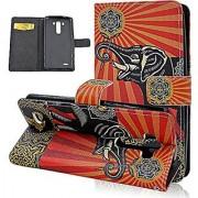 Seedan LG G3 Case - Flower Elephant Flip Leather Wallet Cover Card Holder Folio Slim Stand Case for LG G3 D850 D851 VS98