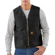 Carhartt Sandstone Vest - Sherpa Lining Factory Seconds (For Tall Men) BLACK (27)