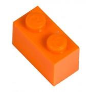 Q-Bricks 2 x 1-Stud Building Blocks flojo Paquete (1000 piezas, naranja brillante)