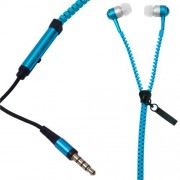 Dhhan Blue zipper headphones for Asus Zenfone 2 Laser ZE550KL