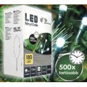 Beltéri karácsonyfa fényfüzér 180 db hideg fehér LED égő KDL 182