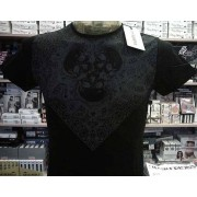 Angel Devil T-shirt maglia uomo Angel Devil con stampa teschi e logo