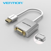 Vention HDMI to VGA Adapter Converter Cable with micro USB power 3.5mm audio HDMI VGA Connector for XBOX PS3 PS4 HDTV PC Laptop