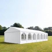 Profizelt24 Partyzelt 6x14m PVC weiß Gartenzelt, Festzelt, Pavillon