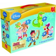 Jake And The Never Land Pirates 4 Shaped Puzzles