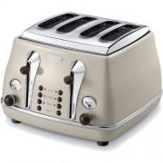 Delonghi CTOV4003BG Toster Vintage. OKAZJA !!! NATYCHMIASTOWA WYSYŁKA, MOŻLIWOŚĆ ODBIORU WE WROCŁAWIU. Dla powracających klientów RABAT