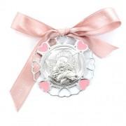 capoculla da bambina in argento e smalto - angioletto