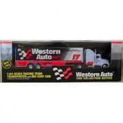 1993 Western Auto Darrell Waltrip #17 1:64 Scale Racing Team Transporter w Die Cast Cab