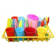 My First Play Dishes with drainer-28 piece set