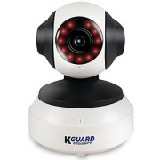 KGUARD Security QRT-501 Motion Technology HD Wireless Wi-Fi Pan/Tilt IP Camera with Night Vision 720P White