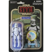 """Star Wars: Revenge of the Sith Vintage Collection 3 3/4"""" CLONE TROOPER (FOIL CARD CHASE VARIANT) by Hasbro"""