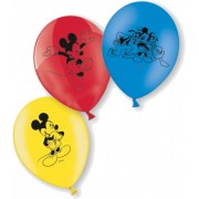 10 balões em Latex do Mickey Tamanho único