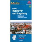 Fietskaart NDS13 Bikeline Radkarte Hannover und Umgebung | Esterbauer
