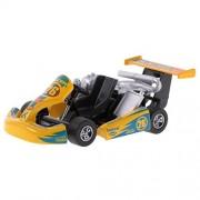 Baoblae Pull Back Car Racing Vehicle Die-Cast Vehicles Race Car Model Design Kids Children Boy Toy Xmas Birthday Gift Yellow