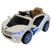 BMW Style Kids Ride On Car 50w Motor 12v Rechargeable 2 Speed with Remote - White