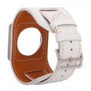FOHUAS Cowhide Genuine Leather Strap Cross pattern Wartch Band For fitbit Blaze Bracelet Including metal frame in Retail Package