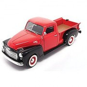 1950 GMC Pick-up Truck Red w/ Black - Road Signature 92648 - 1/18 Scale Diecast Model Toy Car