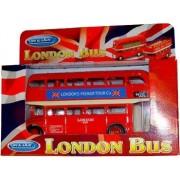 London Double Decker Modelo de Red Bus (Pull & Go Back Acción) Hecho de Die Cast M. ..