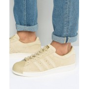 adidas Originals Superstar 80s Trainers In Beige BB2227 - Beige (Sizes: UK 10, UK 8, UK 5, UK 10.5, UK 6, UK 11, UK 7, UK 13, UK 7.5, UK 6.5, UK 12, UK 8.5, UK 9, UK 4, UK 9.5)