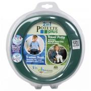 Oliţă de călătorie/reductor WC Potette Plus 46190 verde-maro