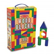 Melissa & Doug 100-Piece Wood Block Set - 481