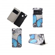 Huawei P9 Lite Case Shell PU Leather Cover for Huawei P9 Lite Case Sleep Wake Flip Butterfly