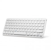 """Anker Ultra Compact Slim Profile Wireless Bluetooth Keyboard with Rechargeable Battery [Compatible with New iPad 9.7"""" (2017)] - White"""