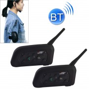 2 PCS V6C 1200m Bluetooth Interphone Referee Headsets with Sport Armband Case Max Support: Six Users