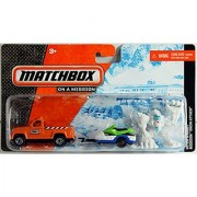 Matchbox Hitch & Haul - SNOW ATTACK (Orange Truck Snowmobile Bigfoot)