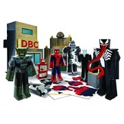 Ultimate Spider Man Papercraft Figure Figura Set Battle at Oscorp Deluxe Pack Jazwares