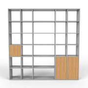 Bücherregal Grau, MDF, 230 x 233 x 35