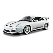 Bburago 18-11036 - Porsche 911 GT3 RS 4.0 Modellino, Scala 1:18, Colori Assortiti: Verde Metallizzato/Rosso