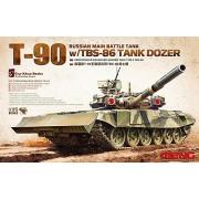 Meng Modellino Carro armato Russian Main Battle Tank T-90 w/ TBS-86 Tank Dozer Scala 1:35