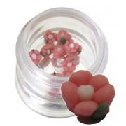 Flori rosii din material ceramic pentru NailArt – 5 mm - 06
