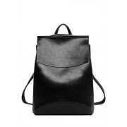 Zaful PU Leather Cover Solid Color Satchel