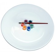 Paint set - Piatto da decorare - Set completo DIY con colori e pennello