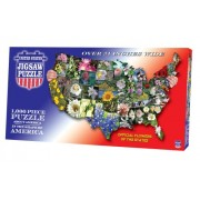 """Jigsaw Puzzle 1000 Pieces 7.8""""X15.8""""-United States-State Flowers"""