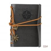 Yarui-World® 1x Carnet Journal Cahier Papier Bloc Note Pu Cuir Vintage Memo Agenda Notebook