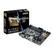Asus B150M-A D3 Intel Scheda Madre 1151, DDR3, Nero