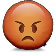 Almofada Emoji Vermelho Raiva Emoticon