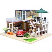 DIY Doll House Wooden Doll Houses Miniature dollhouse With Furniture LED Lights Birthday Gift