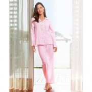 """NOVILA Flanell-Pyjama """"Vichykaro"""", 44 - Rosa/Weiss"""