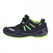 Lowa Simon II GTX lo Kinder Gr. 39 - blau grün / navy/limone - Sportliche Hikingschuhe