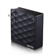 Netis WF2416 Wireless N150 Pocket Size Traveler AP Router / Repeater Two in One with Foldable Wall Mount Power Plug