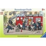 Puzzle Masina De Pompieri, 15 Piese