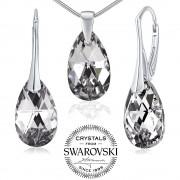 Silvego Silvego stříbrný set se Swarovski(R) Crystals kapka Argent - LSW181