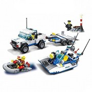 Wange Building Block Super Police Coast Guard Patrol #52012 3doll 453pcs Compatible with Lego