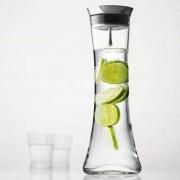 Menu Wasserkaraffe Wellness mit Automatikverschluss, Edelstahl-Deckel und Siebeinsatz, 1.3 Liter