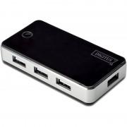 Digitus USB 2.0 Hub, 7-Port, schwarz, inkl. Netzteil