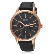 Esprit Quartz Black Round Men Watch ES104432004